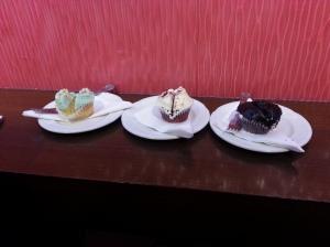 Vanilla Cupcake, Red Velvet, something extremely chocolicious!