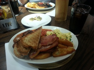 """Breakfast from """"Giraffe"""""""